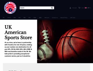 ukamericansportsstore.co.uk screenshot