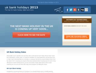 ukbankholidays2012.co.uk screenshot