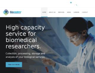 ukbiocentre.com screenshot