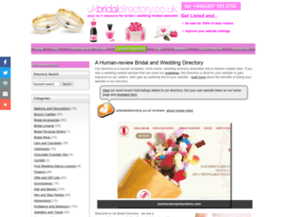ukbridaldirectory.co.uk screenshot