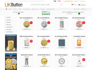 ukbullion.co.uk screenshot