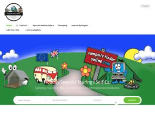 ukcampsitefinder.co.uk screenshot