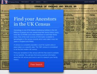 ukcensusonline.com screenshot