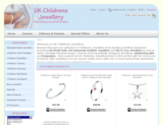 ukchildrensjewellery.co.uk screenshot