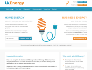ukenergy.co.uk screenshot