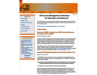 ukfederation.org.uk screenshot
