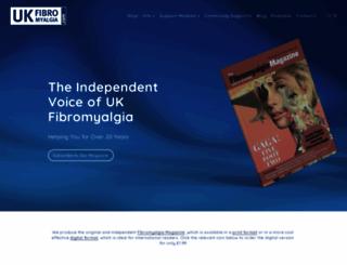 ukfibromyalgia.com screenshot