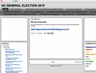 ukgeneralelection2015.blogspot.com screenshot