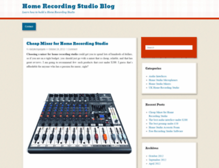ukhomerecordingstudio.wordpress.com screenshot