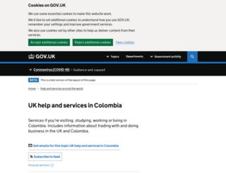 ukincolombia.fco.gov.uk screenshot