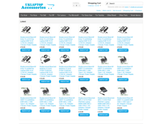 uklaptopaccessories.co.uk screenshot