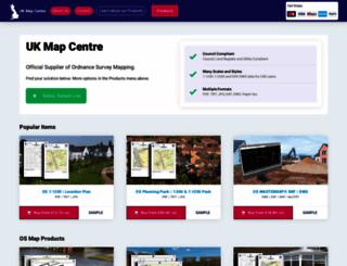 ukmapcentre.com screenshot