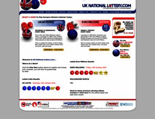 uknationallottery.com screenshot