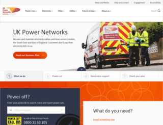 ukpowernetworks.co.uk screenshot