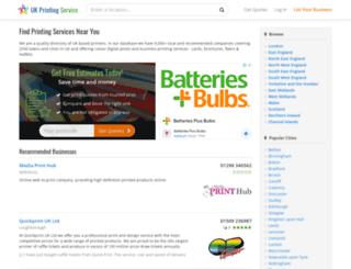 ukprintingservice.co.uk screenshot