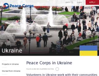 ukraine.peacecorps.gov screenshot
