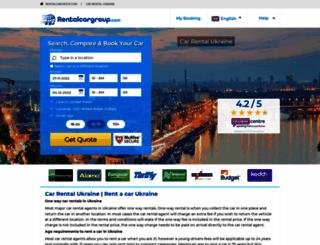 ukraine.rentalcargroup.com screenshot