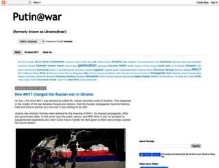 ukraineatwar.blogspot.be screenshot
