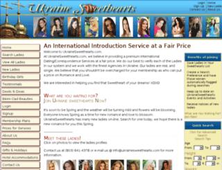 ukrainesweethearts.com screenshot