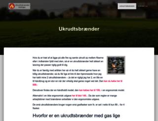 ukrudtsbraender-gas.dk screenshot