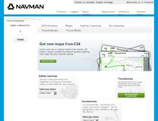 ukstore.navmanstores.com screenshot