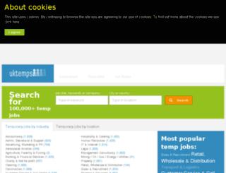 uktemps.co.uk screenshot