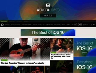 ukulele-lessons.wonderhowto.com screenshot