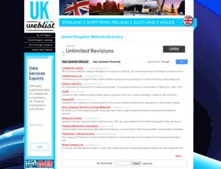 ukweblist.com screenshot