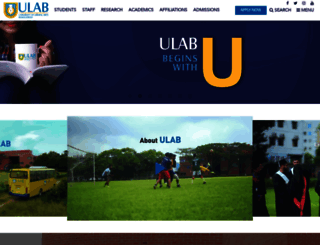 ulab.edu.bd screenshot