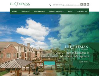 ulcoleman.com screenshot