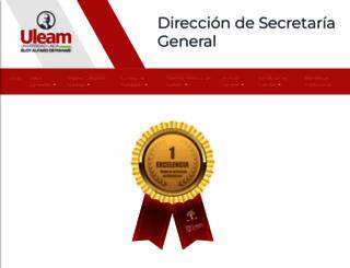 uleam-secretaria.com screenshot