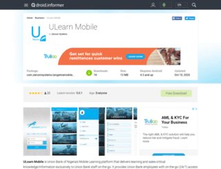 ulearn-mobile.android.informer.com screenshot