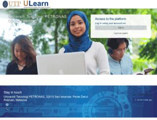 ulearn.utp.edu.my screenshot