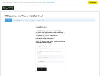 ulisses-webshop.de screenshot