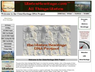 ulsterheritagedna.ulsterheritage.com screenshot
