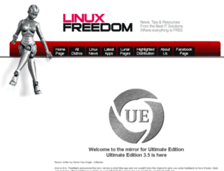 ultimate.linuxfreedom.com screenshot