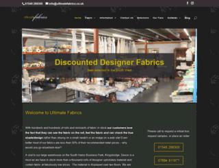 ultimatefabrics.co.uk screenshot
