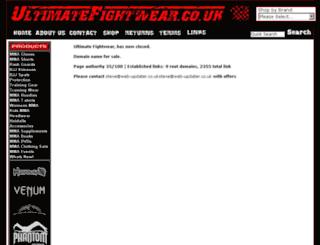 ultimatefightwear.co.uk screenshot