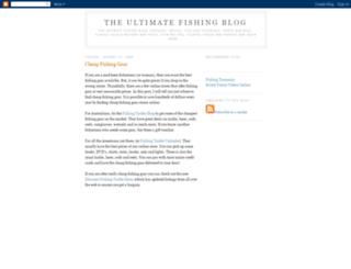 ultimatefishingblog.blogspot.com screenshot