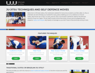 ultimatejujitsu.com screenshot