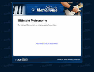 ultimatemetronome.com screenshot