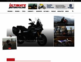 ultimatemotorcycling.com screenshot