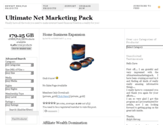 ultimatenetmarketingpack.com screenshot