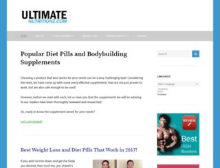 ultimatenutritionz.com screenshot