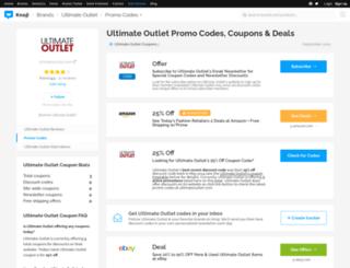 ultimateoutlet.bluepromocode.com screenshot