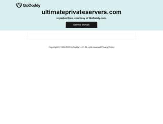 ultimateprivateservers.com screenshot