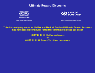 ultimaterewarddiscounts.co.uk screenshot