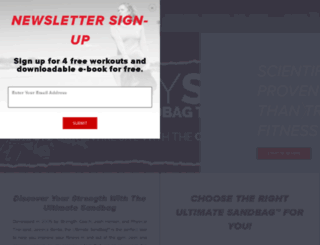 ultimatesandbagtrainingstore.com screenshot