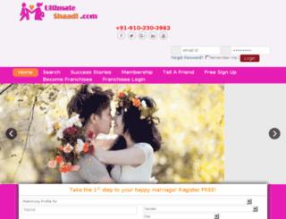 ultimateshaadi.com screenshot