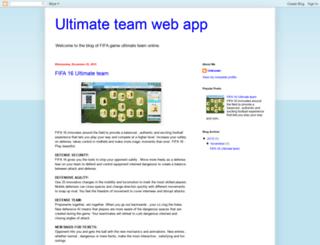 ultimateteamwebapp.blogspot.com screenshot